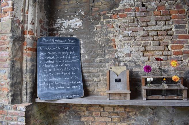 Sissinghurst chalkboard